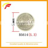 40L 25mm round zinc alloy , zamak , metal hand sewing suit button with enamel