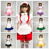 cosplay 7 color short sleeve women adult cute lolita maid costume uniform dress                                                                         Quality Choice