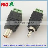 Easy wire RCA RGB male plug and female jack microphone connector with screw terminals for CCTV cameras and led
