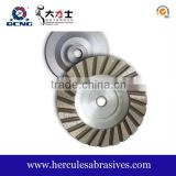 Diamond grinding abrasive cup wheels for granite concrete marble polishing