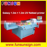 Galaxy UD-1312UFC 1.3x1.2m dx5 head wide format uv flatbed printer glass printing machine
