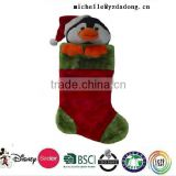 Red christmas socks ,christmas socks with plush santa,nice socks /Promotional Plush Socks/plush animal stocking penguin