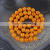 YJ1124 -3 Wholesale Orange Natural dyed jade stone bead strand