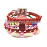 baby teeth mix element wide cuff brazilian bracelet jewellery
