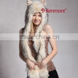 lady fur hat animal hat and scarf for ladies