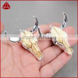 Longhorn resin horn cattle pendants bull cattle pendants Antique Tibetan silver Cattle Skull charm pendants                                                                         Quality Choice