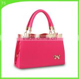 simple and delicate fashion style for butterfly PU ladies handbag candy color                                                                         Quality Choice