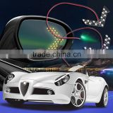 Car styling 1PCS 14 SMD LED Arrow Panels Light Car Side Mirror Turn Signal/Indicator Light/Car led/ Parking