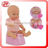 Chinese toy store wholesale toy of 14 inch baby doll drink and pee plastic and 6P EN71 EN62115