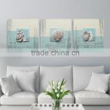 Eco-friendly Seaside Scenery Painting Hand Made Oil Sculpture