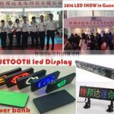 MINI LED clock power bank with Bluetooth /mini LED version bluetooth caller display/scrolling led display bluetooth