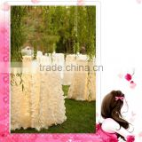 Guangzhou Fancy Custom-made Color Taffeta Laser Petal Table Cloth/chinese factory leaf customed design table cloth