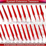 Professional Eyelash Extension Tweezers Set Lady Angular Tweezer with 45 Degree Curved Angle Volume Tweezer