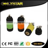Onlystar GS-4022 portable pocket 1w plastic small powerful usb led torchs best keychain flashlight