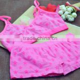 Hot girls boxer shorts panty crop top sports bra underwear set                                                                         Quality Choice