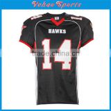 high qualIty custom made black american football jersey