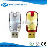 2016 HotSale Iron Man USB Flash Drive Pen Drive Crystal Diamond PenDrive 4GB 8GB 16GB 32GB 64GB Memory Stick/Thumb/Pendrives                                                                         Quality Choice
