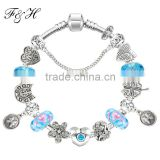 12 Zodiac signs european charms bead bracelet wholesale fits promotional gift and birthday present