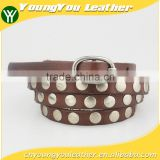 Fashion High Quality Thin cow hide belt for women with Alloy Buckles in Yiwu