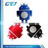 China supplier cheap custom mp3 player in cute android robot shape,accept Paypal