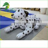 Lovely White Bounce Soft Pool Kid Toy Inflatable Spotted Dog Cartoon Design