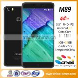 M89 4G LTE 5.5 inch Octa Core 3GB Ram Android 5.1 fingerprint scanner latest 5g mobile phone