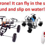 High Quality 2.4G RC AIR UFO (TRIPLE) Multifunction Drone With 4 Wheel Can Fly in The Sky, Run on Ground and Slip on water