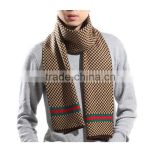 Men 4color choice fashion acrylic made in china winter wear plain classic plaid soccer scarf men