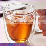 Handmade Clear Heat-Resisting double wall glass coffee cup                                                                         Quality Choice