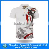 bling t shirts wholesale white all over printing sublimated polo shirt