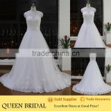 Latest Design Round Neck Sleeveless See Through Back Sequined Lace Wedding Dresses Turkey Istanbul                                                                         Quality Choice
