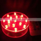 "4"" Multi-color Remote control LED Vase Base light / LED Remote control centerpiece light"