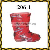 cheap transparent cute children pvc rain boots/cheap transparent flower blue cute children pvc rain boots