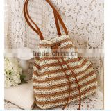 2016 New fashion Womens Straw Summer Shoulder Tote Shopping Beach Bag Purse