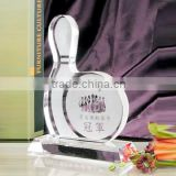 Hot sale cheap blank crystal glass Bowling trophy awards plaque for club gift