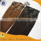 Free sample 2016 new products virgin brazilian curly full head clip in hair extensions