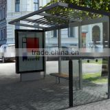 Inquiry about Aluminum Outdoor Bus Stop Shelter with LED Light Box & Waiting Chair for City Street Construction