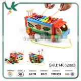 Children's Toys Hand Knock Piano Musical Instrument Wooden Truck Baby Early Education