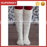 A-11 over the knee high tassel knit chunky boot socks women chunky knit leg warmers knitted thigh high boot socks