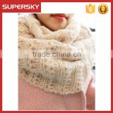 V-04 Soft and versatile chunky stylish crochet infinity neckwear warmer scarf winter women scarf
