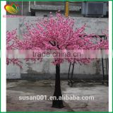 Wholesale artificial pink peach cherry blossom tree for home decoration