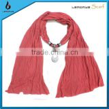 trustworthy china supplier ladies long charm pendant polyester promotion scarf