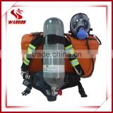 Fire fighting air supplying respirator apparatus