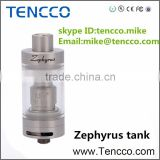 TENCCO 2015 New NEW arrival tank Sub ohm UD Zephyrus with RTA head,top refilling 5ML,rebuildable Goliath RTA, GOBLIN RTA