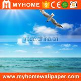 3d wallpaper blue sea beach coconut tree wall paper landscape mural wallcovering                                                                                                         Supplier's Choice