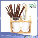 wooden utensil holder Bamboo Kitchen Utensils holder                                                                         Quality Choice