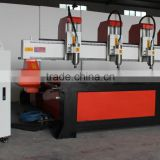 4 Heads 2500*1300mm Relief CNC Router on 4 Z-axis NcStudio Control ZK-2513-4