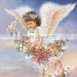 small size 30x30cm Baby Angel flower girl full round diamond drilled painting