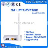 1GE + WiFi EPON ONU with Route Support IPv4 IPv6 Mini White Plastic Housing xPON Device ONT