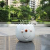Design Fashion Samll Decoration Cute White Plastic Flower Pot Cover